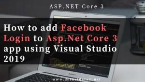 add facebook login to Asp.Net Core 3 app
