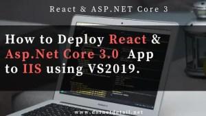 Deploy Reactjs and Asp.Net Core app to IIS