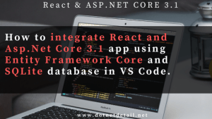 Integrate react and asp.net core 3.1