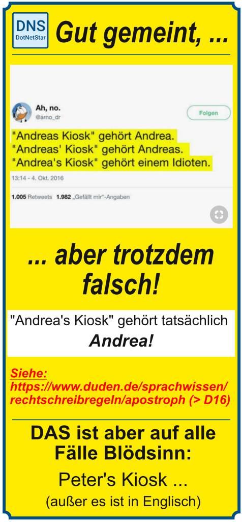 Pinterest-PIN über Apostrophe
