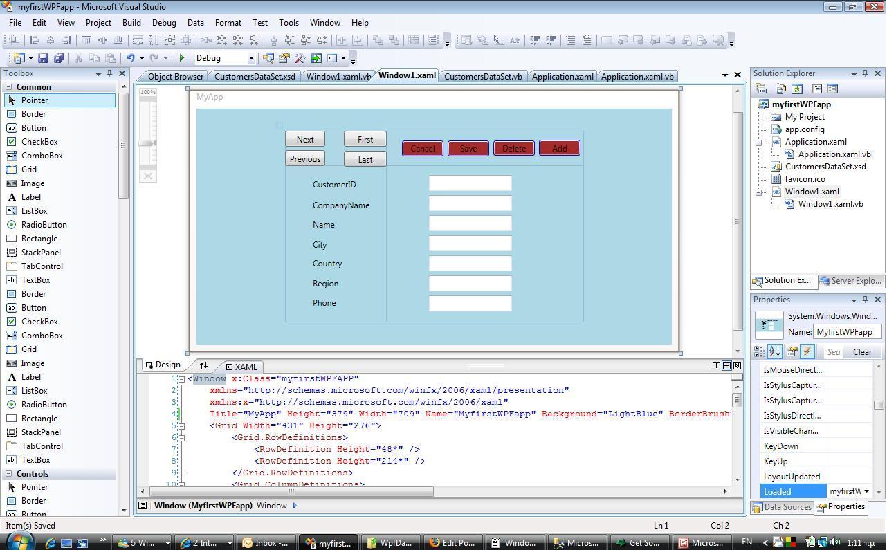 Create A Simple Data Centric Wpf Application