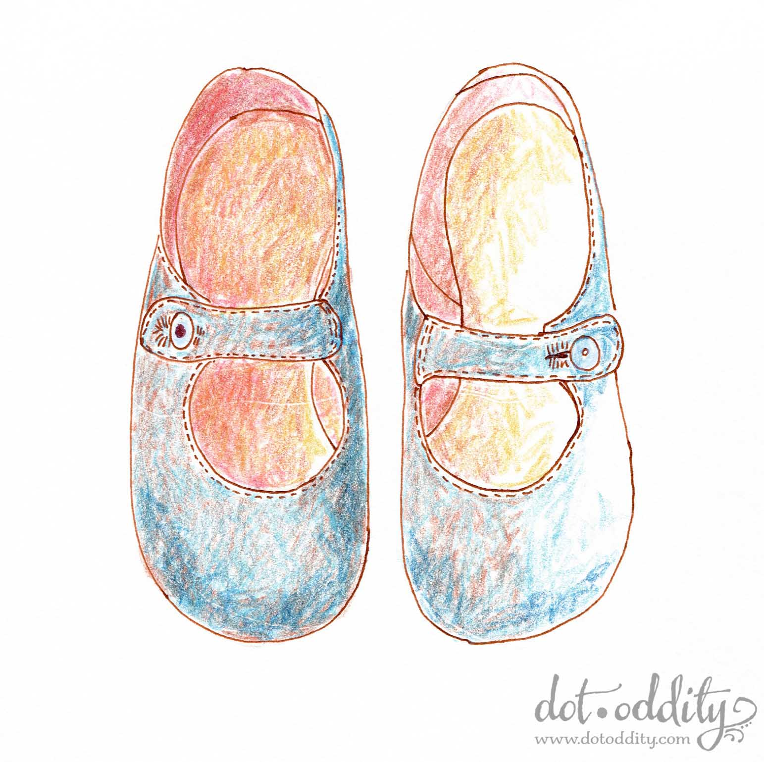the little shoe project 2015 september by Maria Larsson
