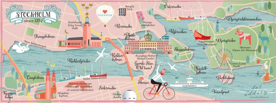 Stockholm map by Maria Larsson
