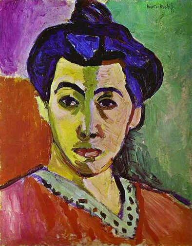 Portrait of Mme Matisse with Green Stripe 1905 Henri Matisse