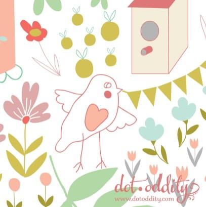 Birdtown detail by Maria Larsson