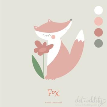 Fox by Maria Larsson