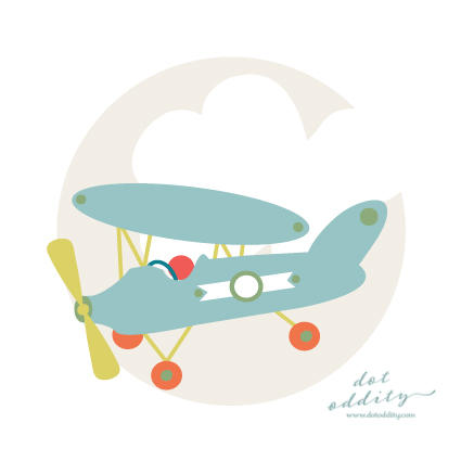 Vintage aeroplane by Maria Larsson