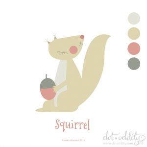 Squirrel by Maria Larsson