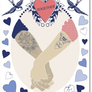 Valentin card by Maria Larsson