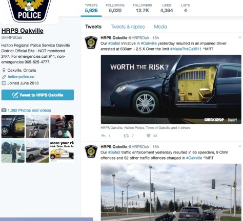 oakville police twitter