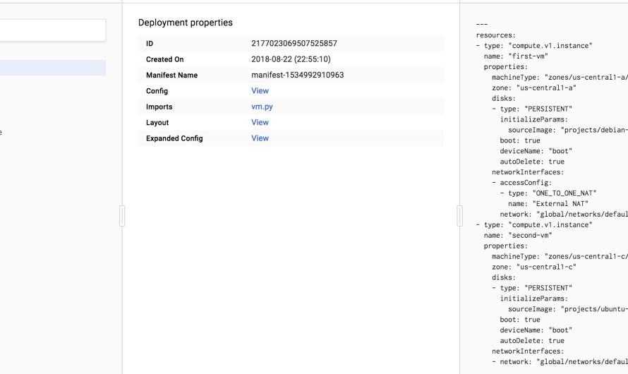 Python шаблоны в гугловом Deployment Manager