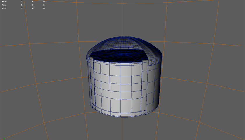 High-resolution Water Tank Model