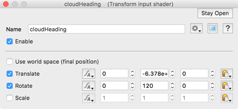 Transform cloud heading