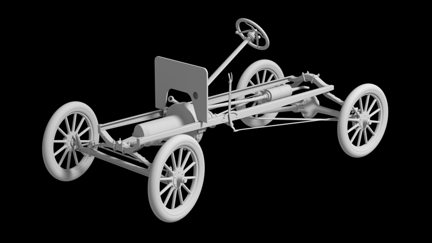 1911 Torpedo Chassis Rendering