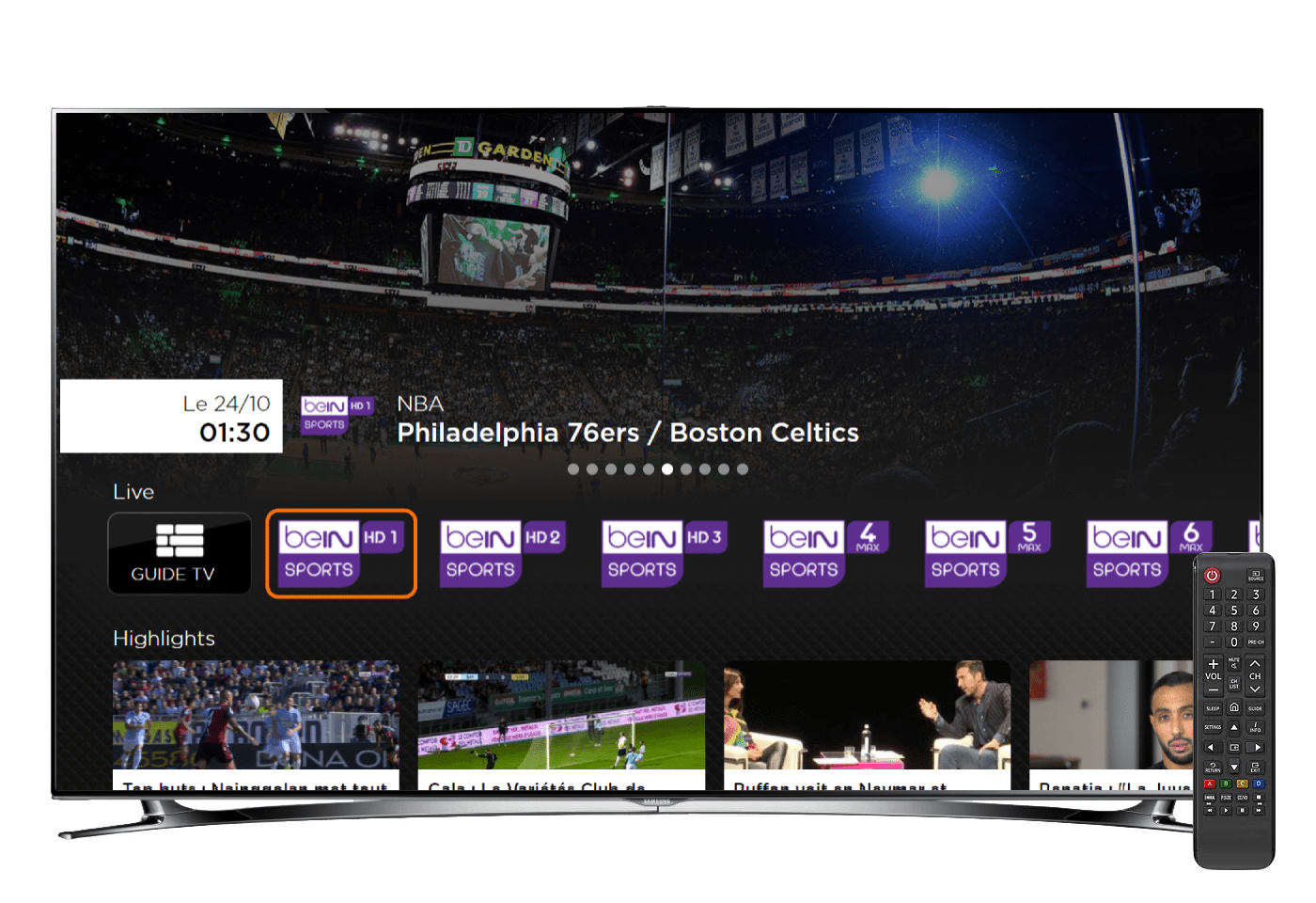DOTSCREEN has developed beIN Sports's new beIN Connect User Interface, now live on LG, Samsung, HiSense Smart TVs & Playstation 4 in France
