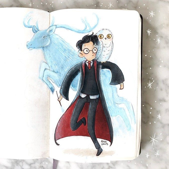 nikki smits illustration - harry potter patronus
