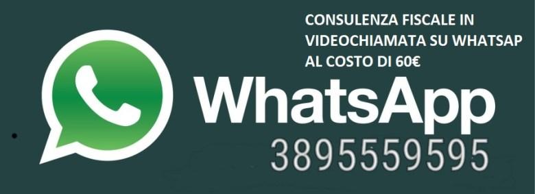 consulenza fiscale su whatsapp in videochiamata