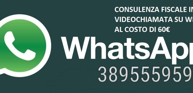 consulenza fiscale in videochiamata su whatsapp