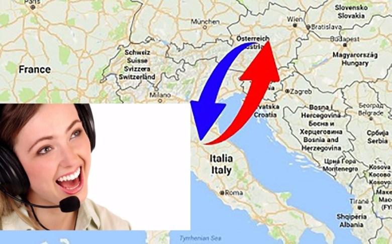 ono italiana residente in Austria ed sto pensando di accettare un'offerta di lavoro come operatrice telefonica per una ditta che ha sede in Italia