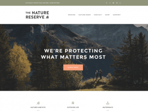 Beautiful nature, eco, earthy or organic WordPress theme free
