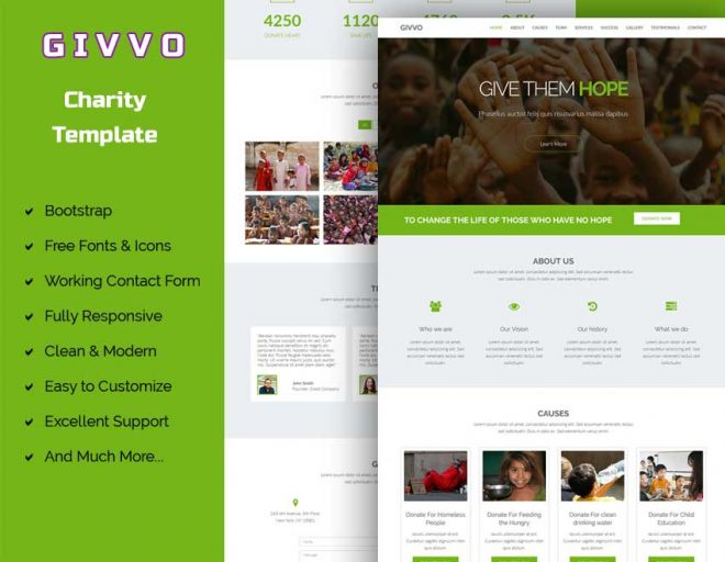 Givvo – Charity Website Template
