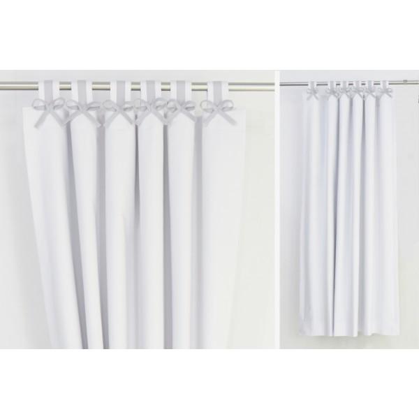 Grey white nursery curtains