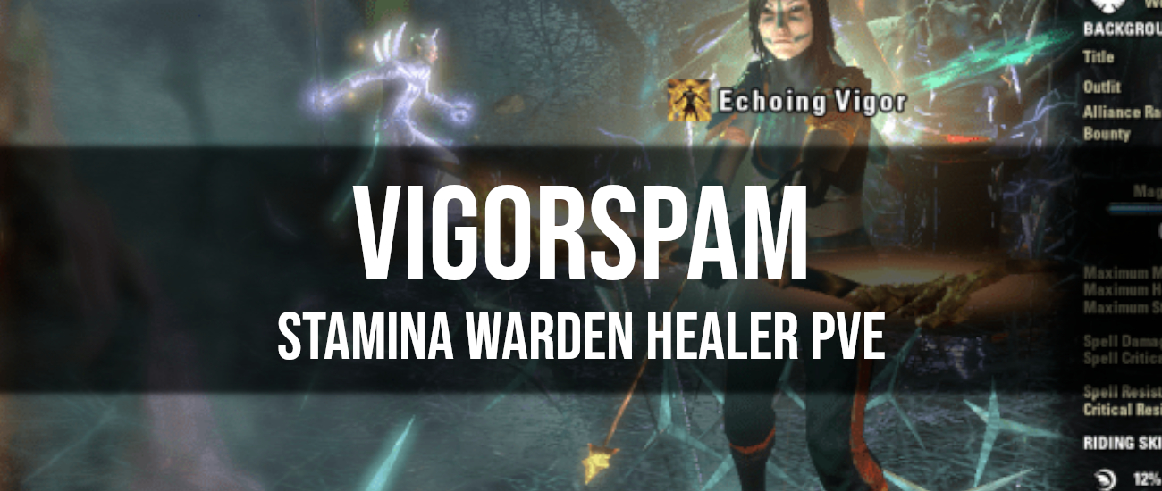Vigorspam – Stamina Warden Healer PvE Build - Dottz Gaming