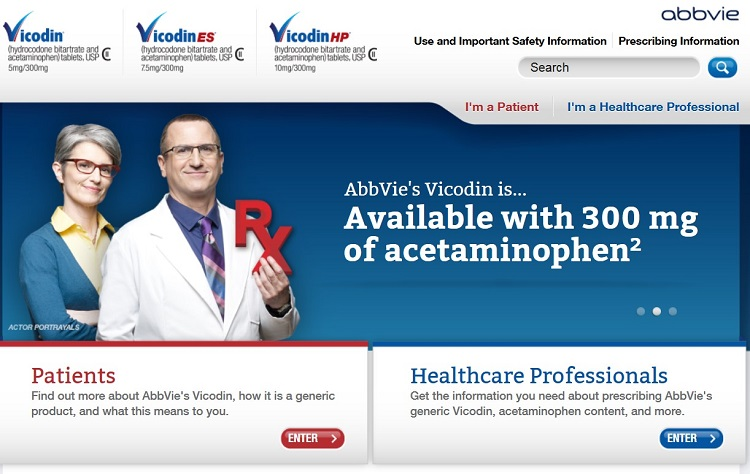 Vicodin Website