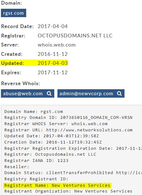 rgst.com whois record April 3, 2017
