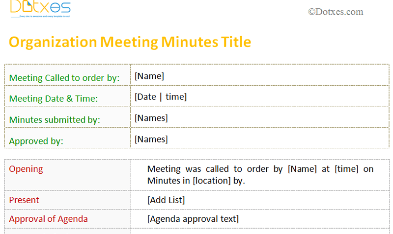 Printable-meeting-minutes-template-(For-Organization)-Featured-Image
