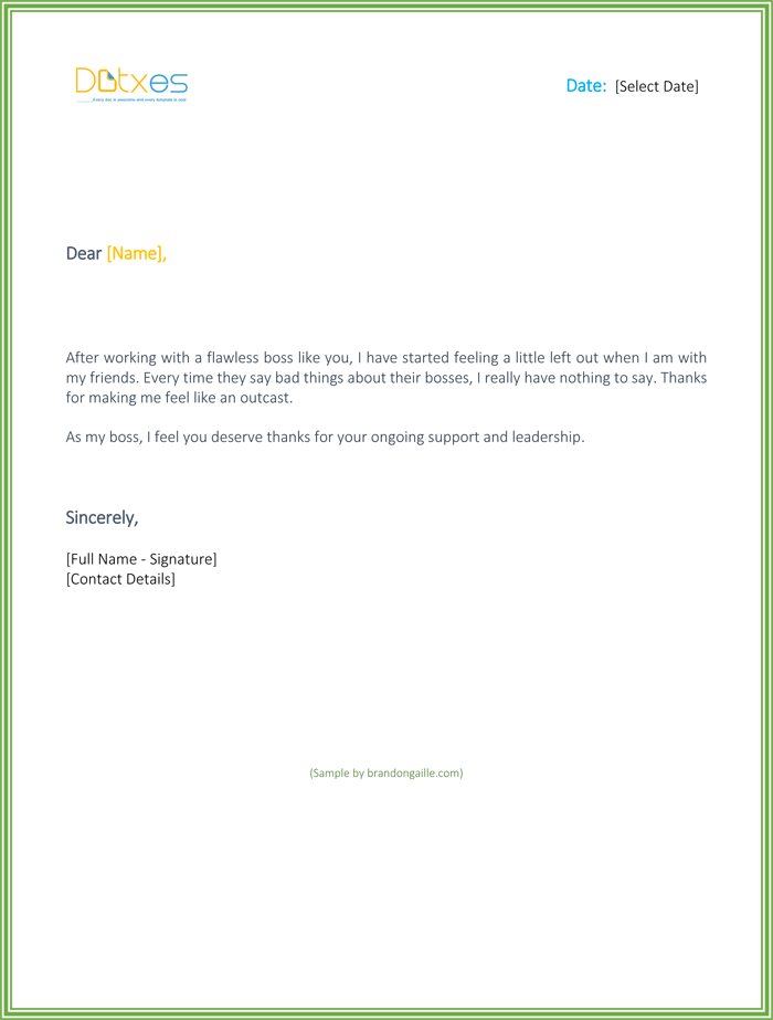 Thank You Letter While Leaving a Job Example - Free