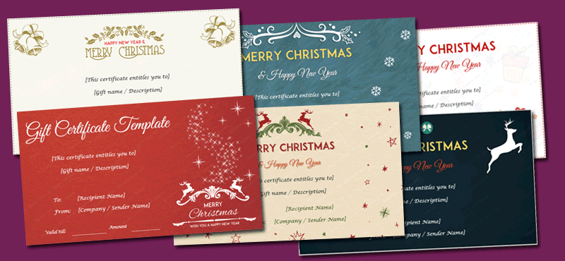Christmas Gift Certificate Templates (Best Designs for this year)