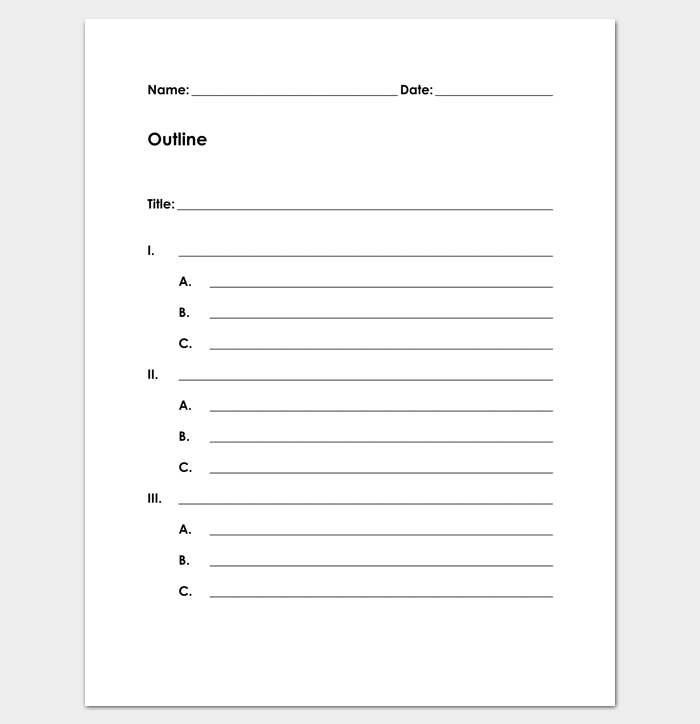 Blank Outline Template for Kids