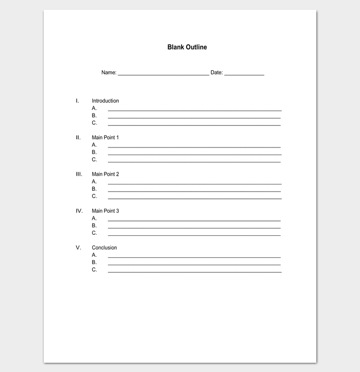 Blank Outline Template for PDF