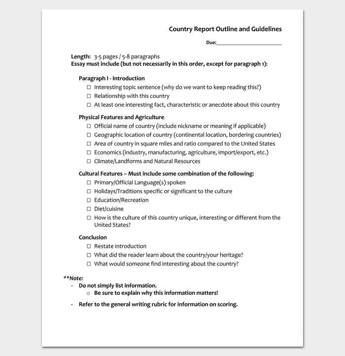 Report Outline Template 19 Samples Formats & Examples