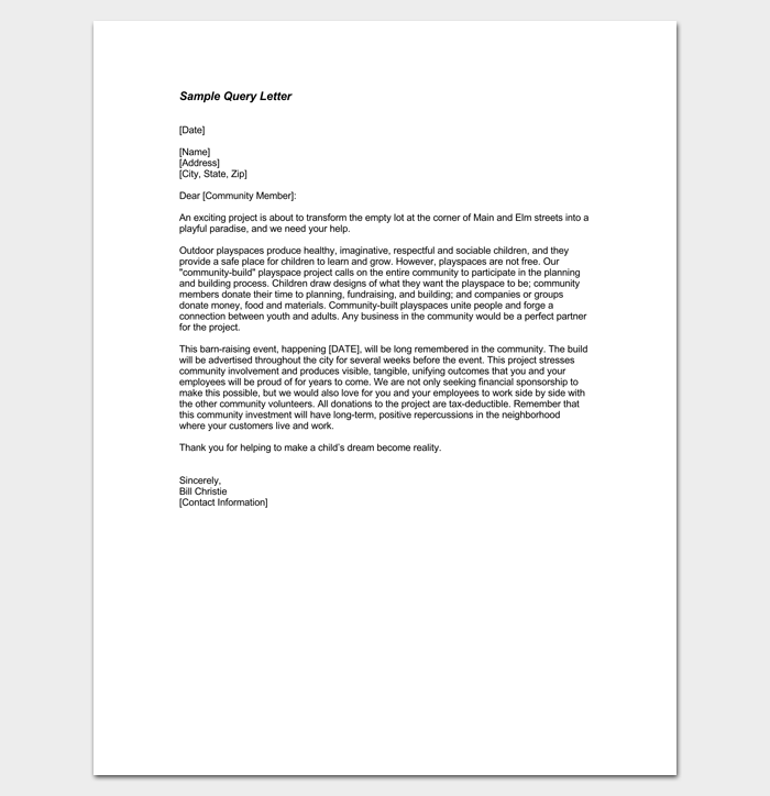 Employee Query Letter 1