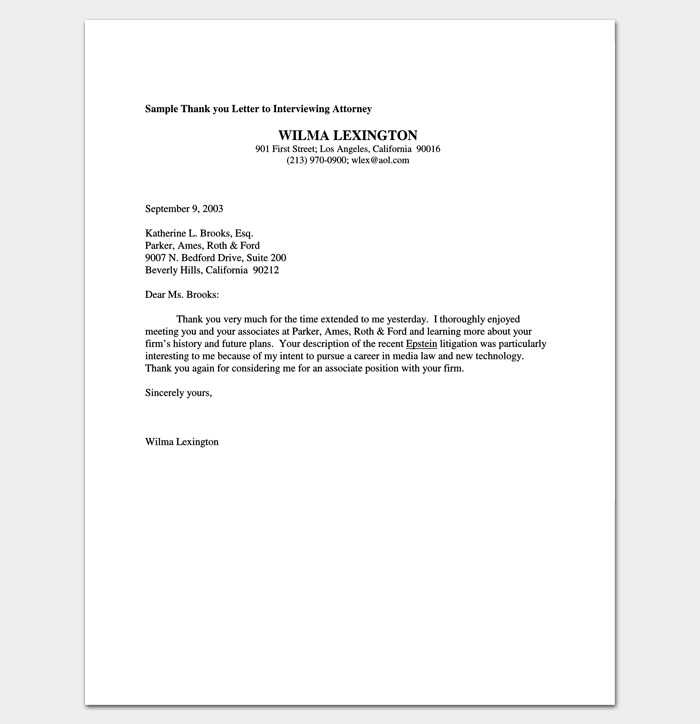 Follow Up Letter Template 10 Formats Samples & Examples
