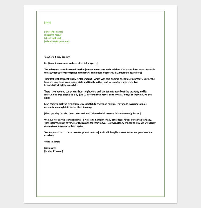 Tenant Letter Template for Commercial