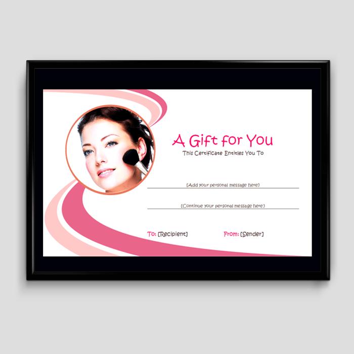 Beauty Salon Gift Certificate Template