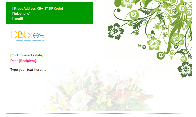 Letterhead Template (Flower Design) Featured Image