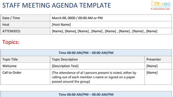 Staff Meeting Agenda Featured Image