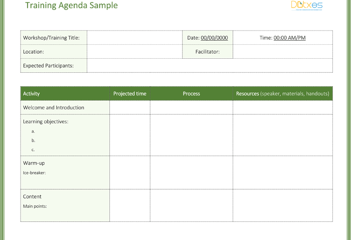Training Agenda Template (Featured Image)