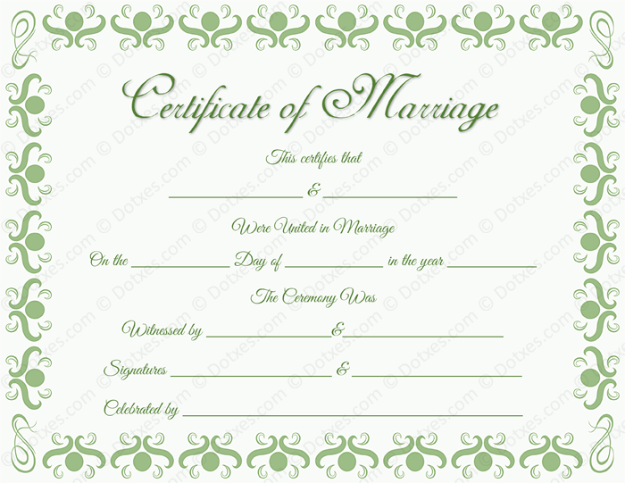 Round Grill Border Marriage Certificate Template for Word