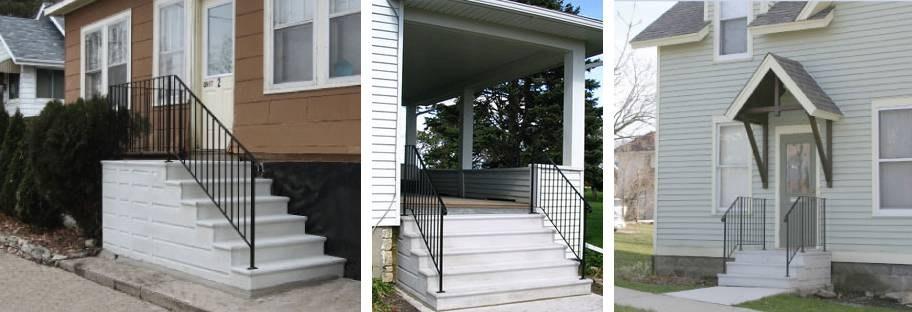 Precast Steps Railings Doty Concrete   Handrails For Concrete Steps   Deck Stair   Ada   Wood   7 Hand   Concrete Entrance