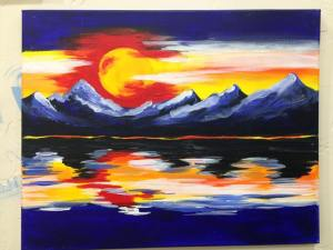 colorado sunset painting lenka's place