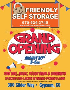 friendly self storage grand opening