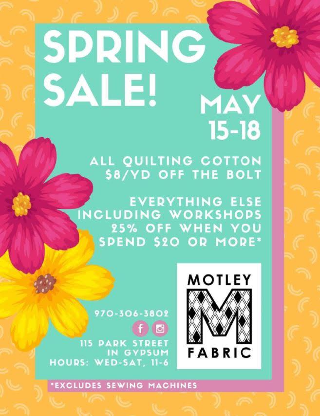 motley fabric spring sale