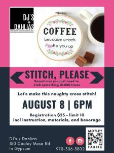 motley fabric cross stitch