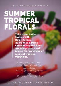 tropical flower workshop