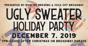 ugly sweater party bonfire brewing